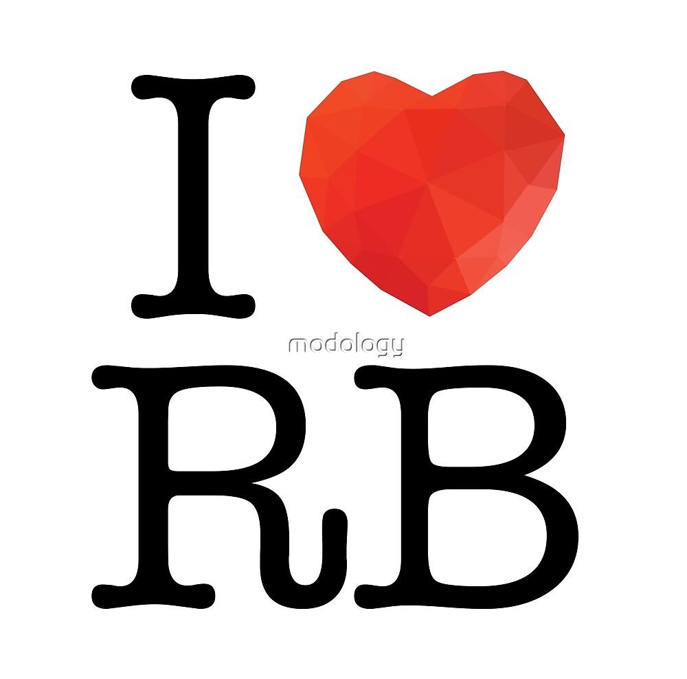I Love Ruby by modology