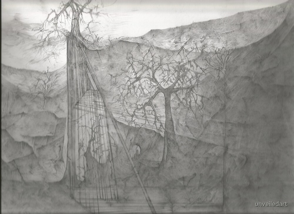 The Bridge Is Out by unveiledart
