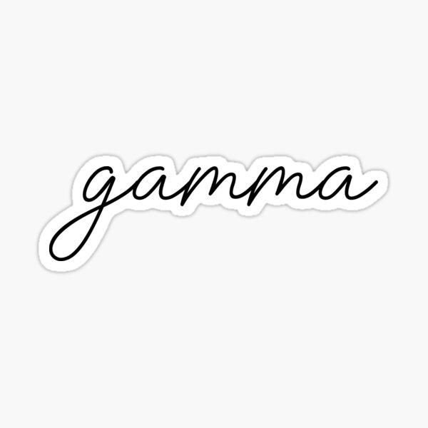 Gamma Script Letter Sticker