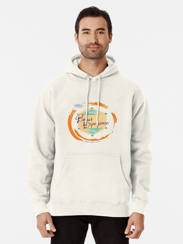 Alternate view of Sparkling Water BXP Logo - Orange Pullover Hoodie