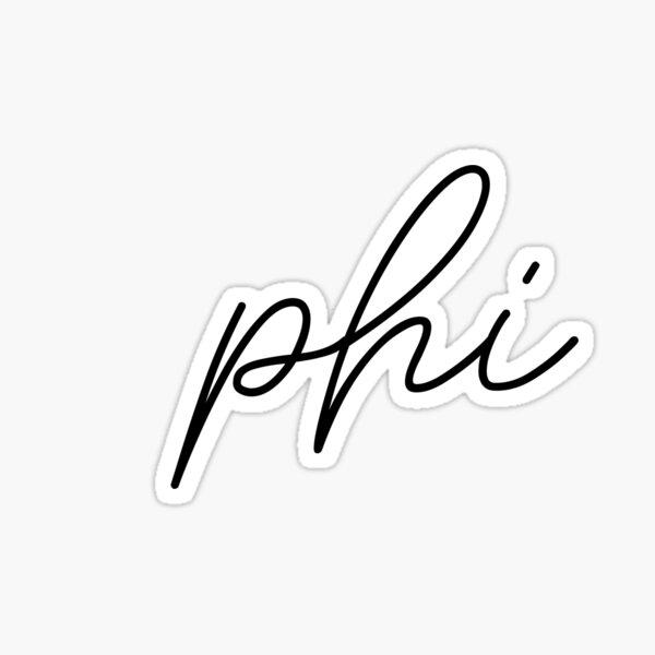 Phi Script Letter Sticker