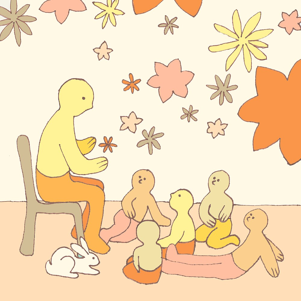Apricot Teaching - from my original series, Apricot World by Jenny Hoople