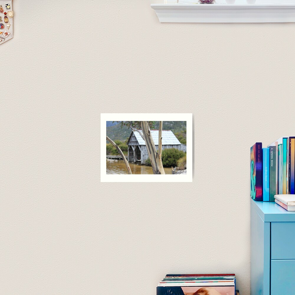 Wooden Boat Shed Art Print