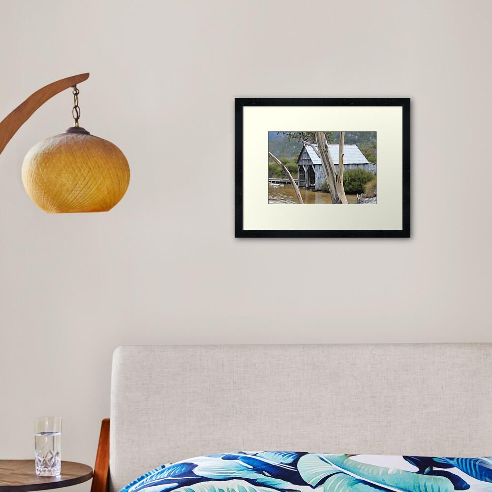 Wooden Boat Shed Framed Art Print