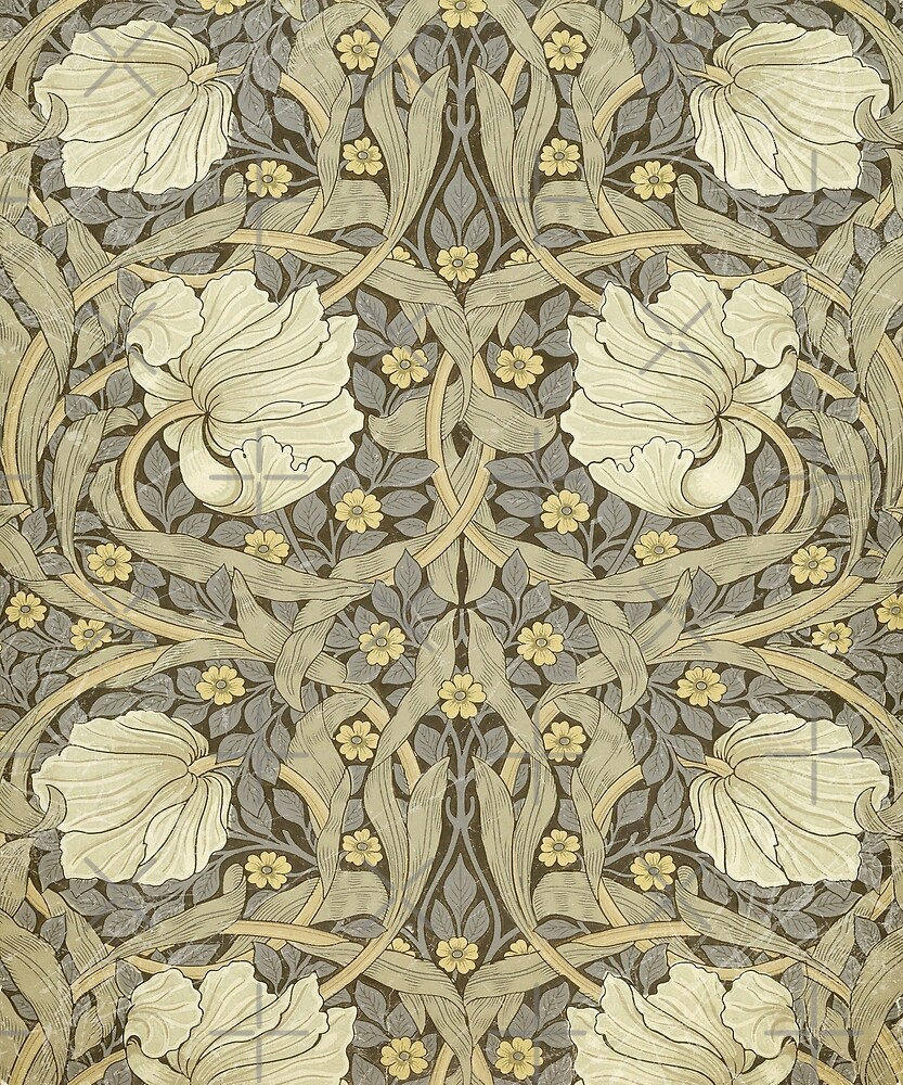 Vintage Victorian Wallpaper 3 William Morris Aged Texture By