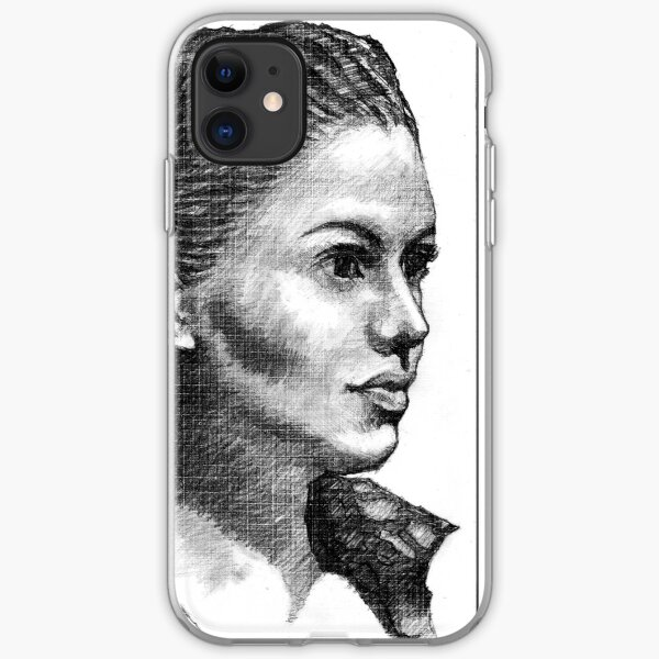 Woman Drawing iPhone Soft Case