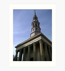 A Christian Church  Art Print