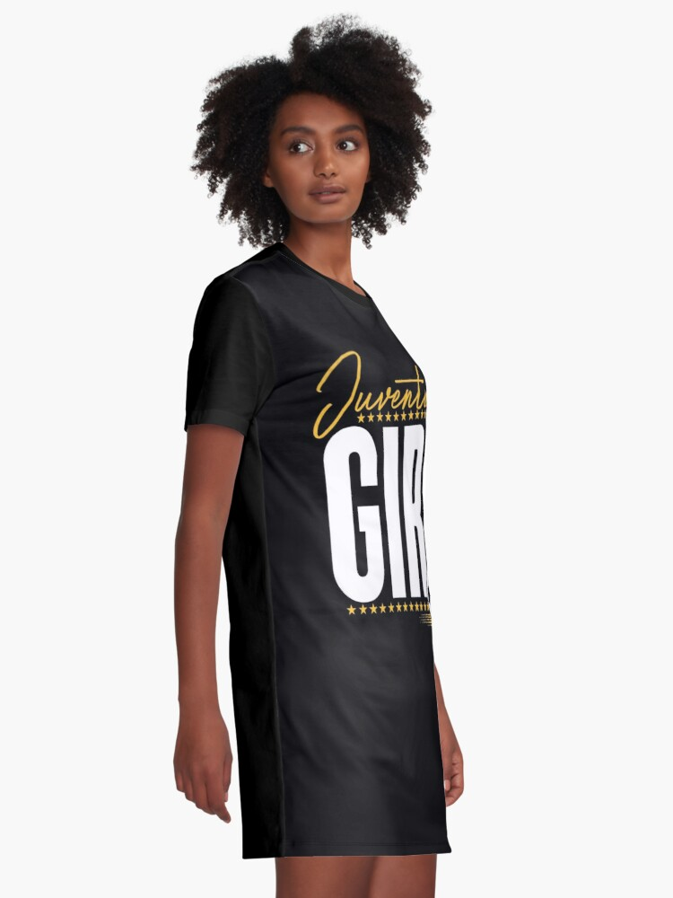 new style bd2a1 efd8b Juventus Girl Soccer Fan Gift For Girls | Graphic T-Shirt Dress