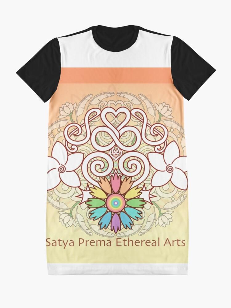 Alternate view of Orange Enlighten Love Mandala Graphic T-Shirt Dress