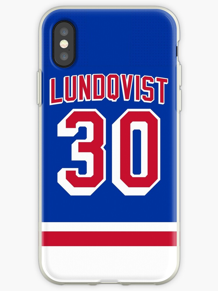 New York Rangers Henrik Lundqvist Home Jersey Back Phone Case