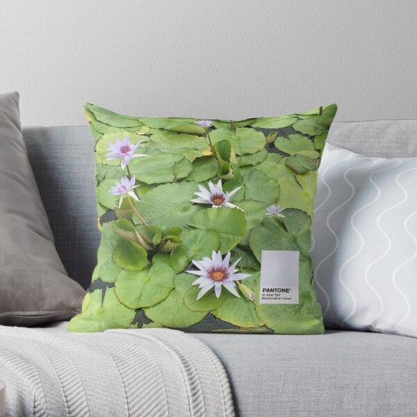 Lily Pad Pantone Throw Pillow