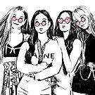 BLACKPINK Sonnenbrillen-Skizze von imgoodimdone