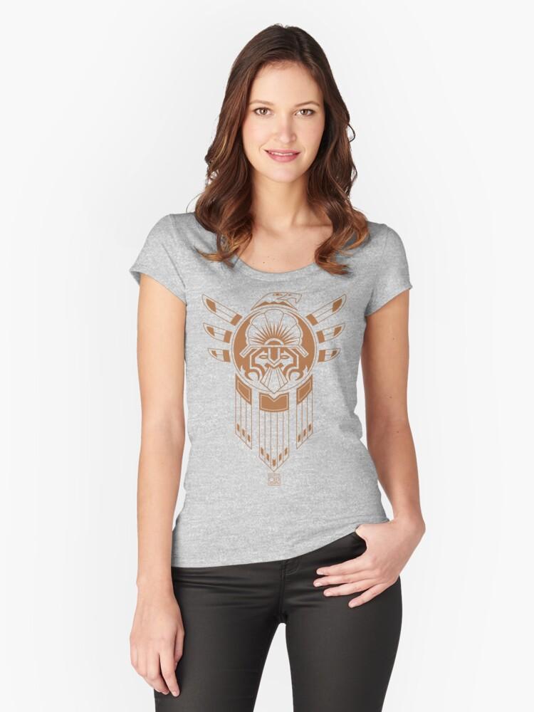 Inca Bird Tattoo Women's Fitted Scoop T-Shirt Front
