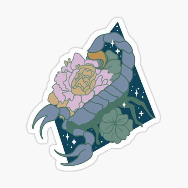 Scorpio Scorpion - BLUE Sticker