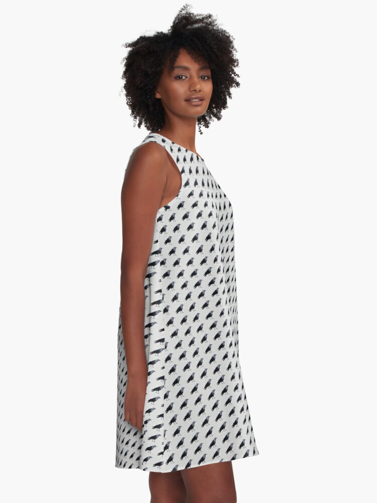 Alternate view of Grey Crow Pattern A-Line Dress