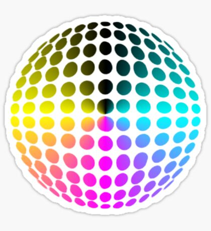 technicolour ball Sticker