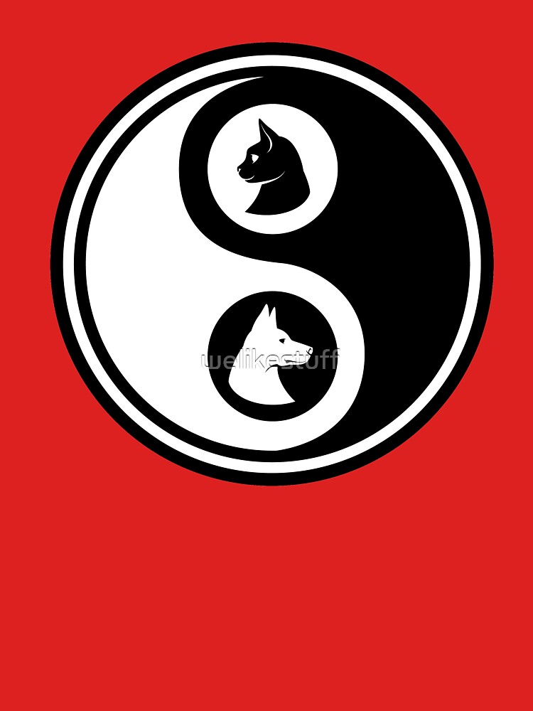 Yin Yang - Cat and Dog by welikestuff
