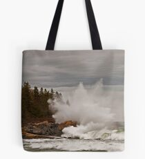 Nor' Easter Surf at Christmas Cove, Maine Tote Bag