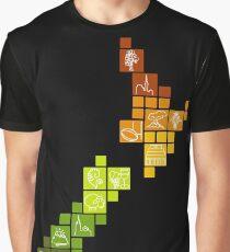 New Zealand Fun Map Graphic T-Shirt
