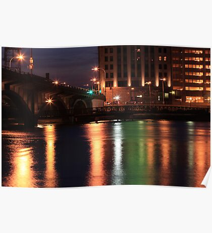 The Rock River at Night Poster
