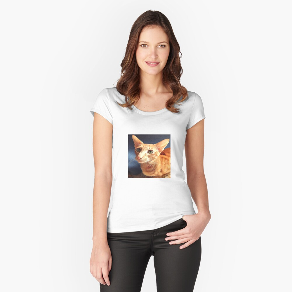 Oriental Cat Fitted Scoop T-Shirt