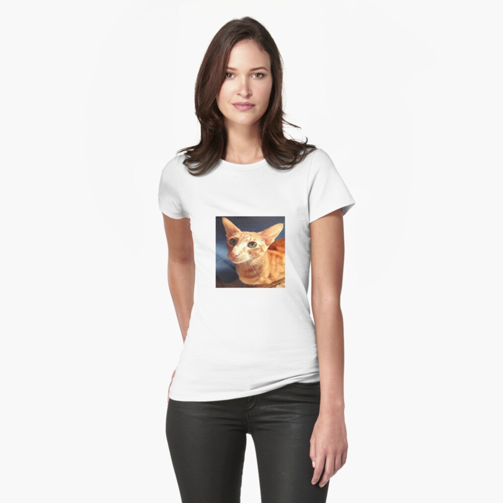 Oriental Cat Fitted T-Shirt