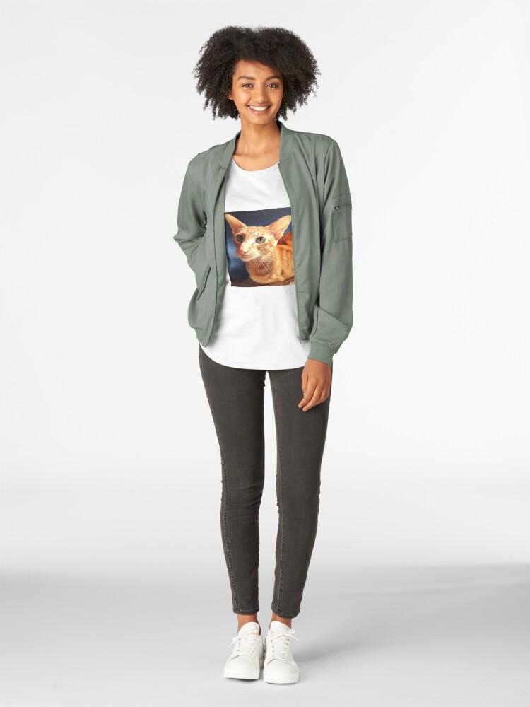 Alternate view of Oriental Cat Premium Scoop T-Shirt