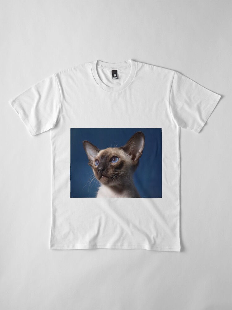 Alternate view of Siamese Cat Premium T-Shirt