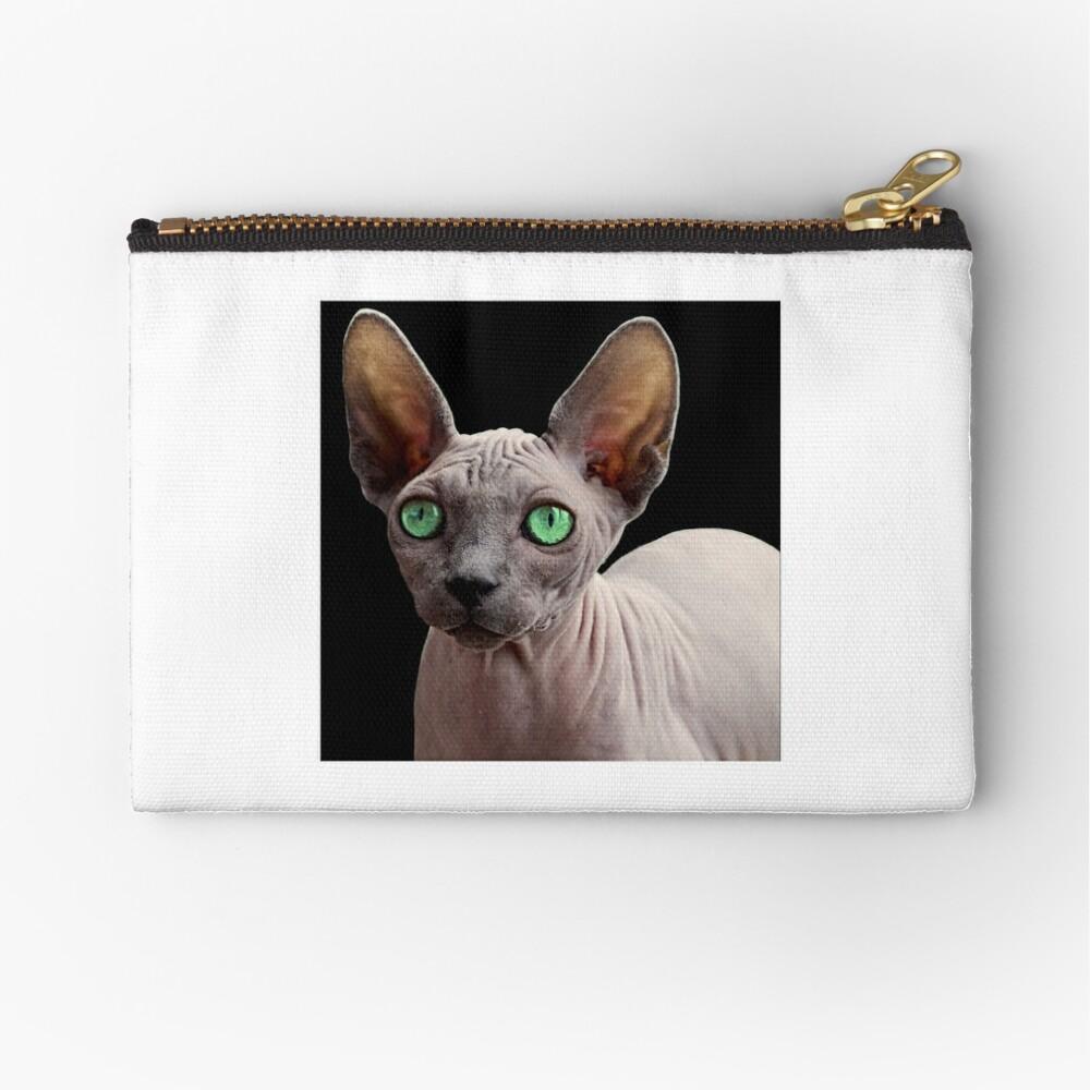 Sphynx Cat Zipper Pouch