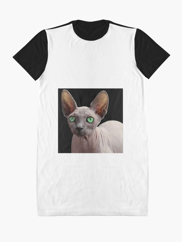 Alternate view of Sphynx Cat Graphic T-Shirt Dress