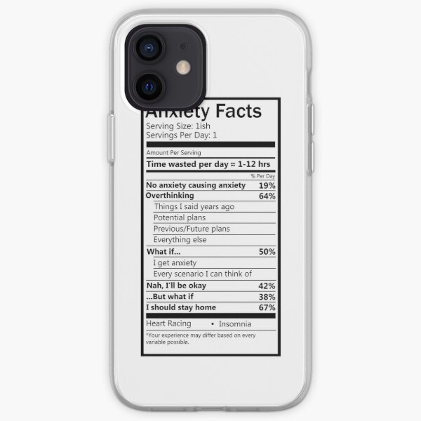 Anxiety Facts iPhone Soft Case