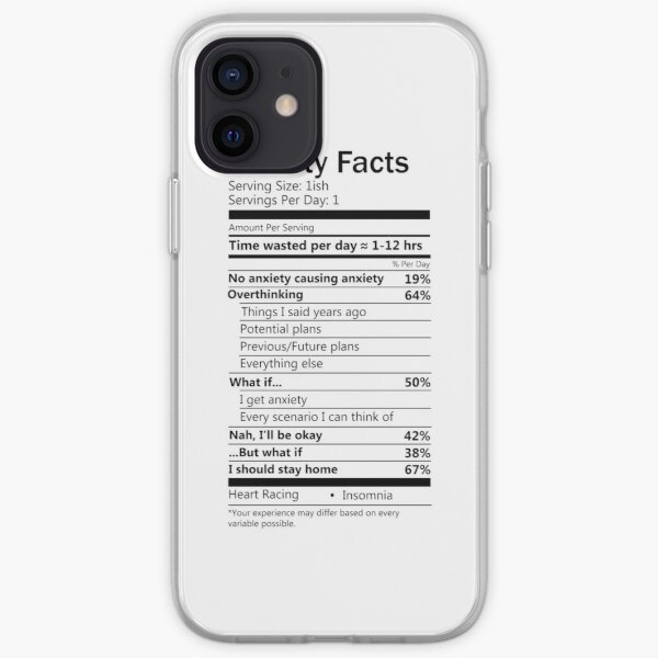 Anxiety Facts transparent iPhone Soft Case