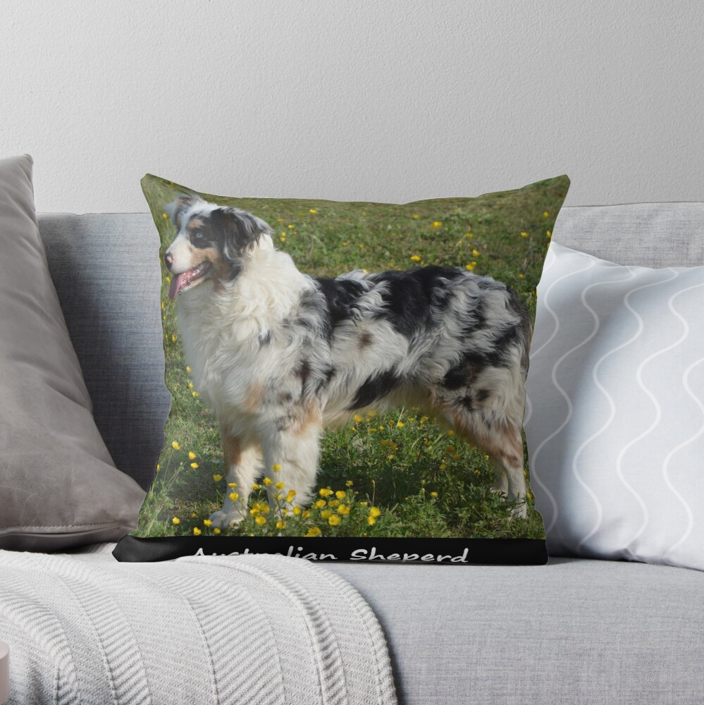 Australian Sheperd Throw Pillow