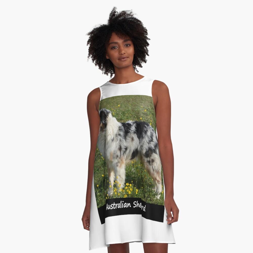 Australian Sheperd A-Line Dress
