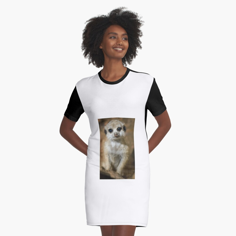 Meerkat Graphic T-Shirt Dress