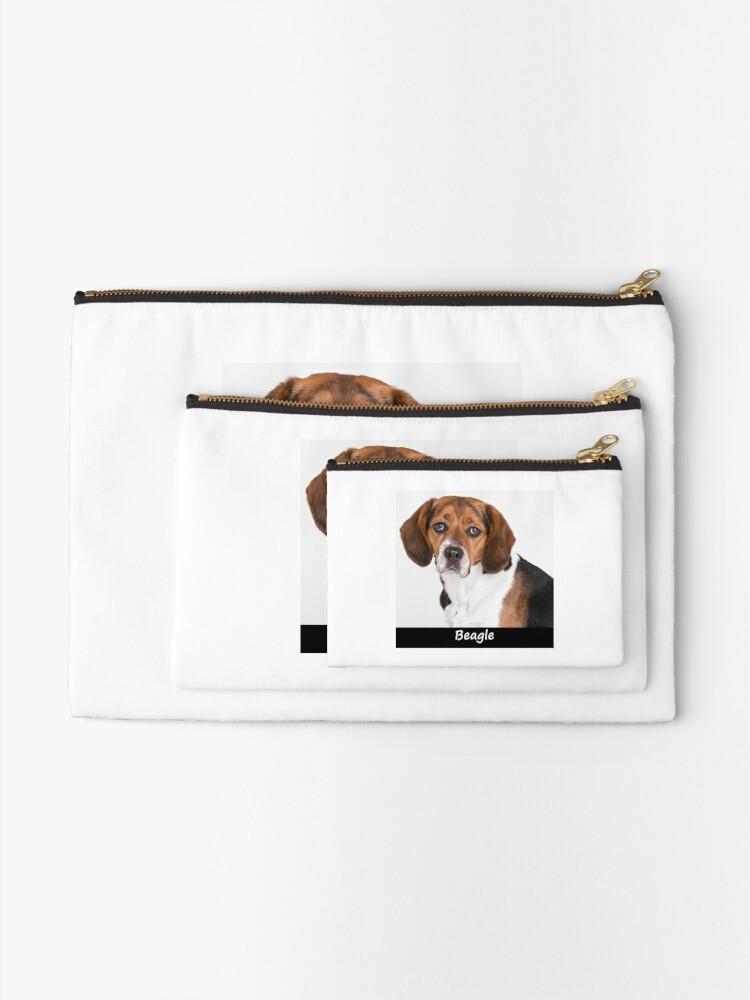 Alternate view of Beagle Zipper Pouch