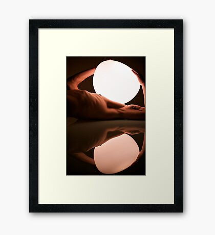 reflections on a light load Framed Print