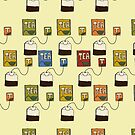 A bunch of tea bags by illuminostudio