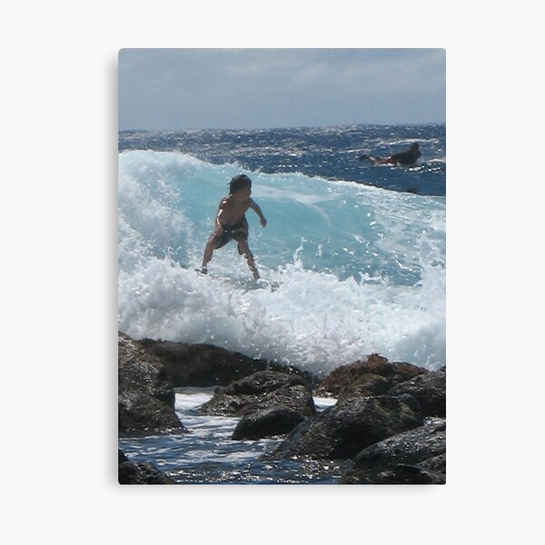 Young Surfer at Pohoiki Canvas Print