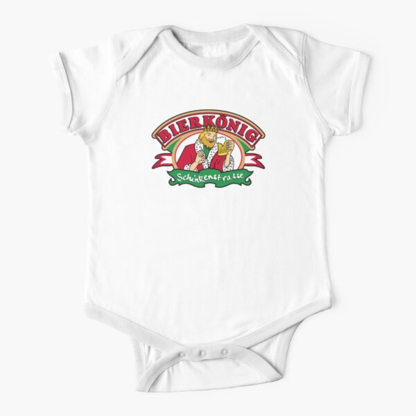 bierkönig Short Sleeve Baby One-Piece