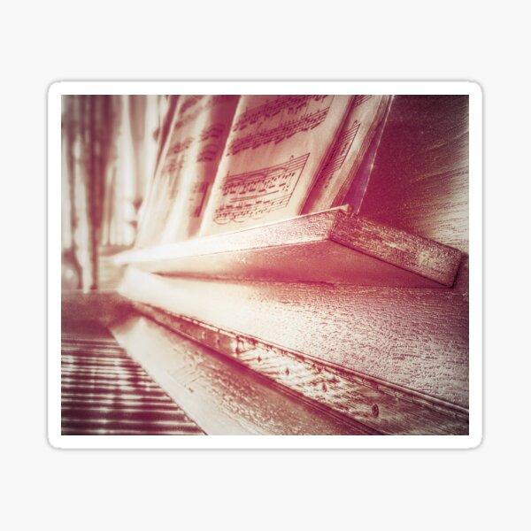Red piano Sticker