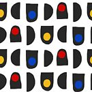 Geometric pattern in primary colors and basic shapes by illuminostudio