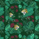 Tigers in the deep jungle by illuminostudio