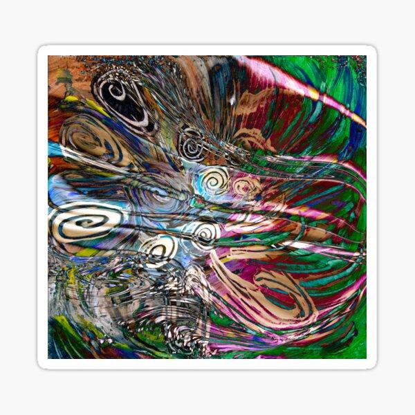 fluid energetic flow abstract Sticker