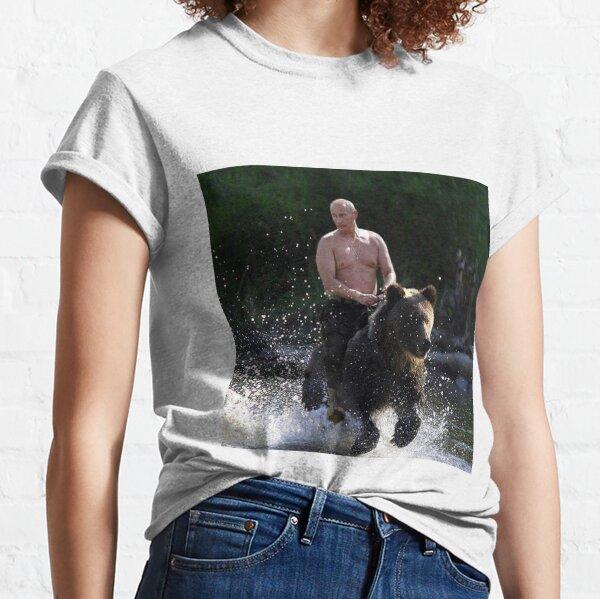 Wladimir Putin einen Bären reiten Classic T-Shirt