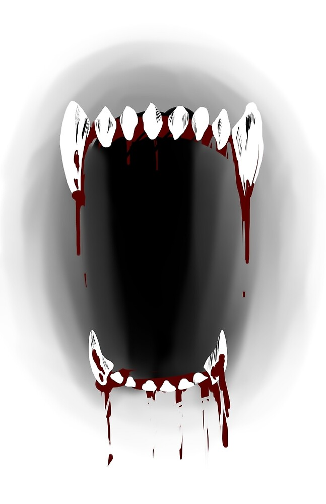 Fangs (With Blood) by MadsterMo
