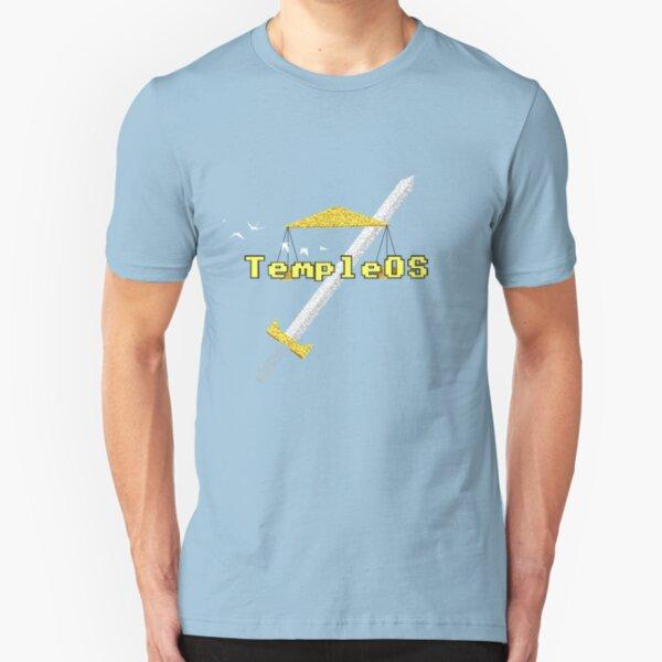 TempleOS Logo Pure Slim Fit T-Shirt
