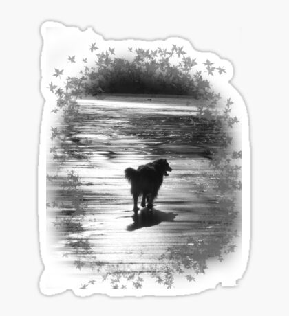 dog silhouette t shirt Sticker