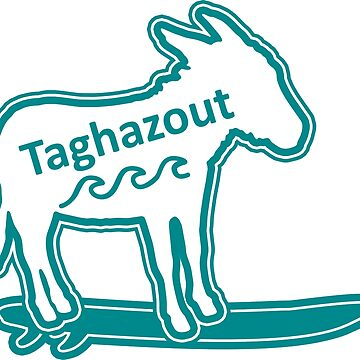 TAGHAZOUT SURFING DONKEY TYPO by divotomezove