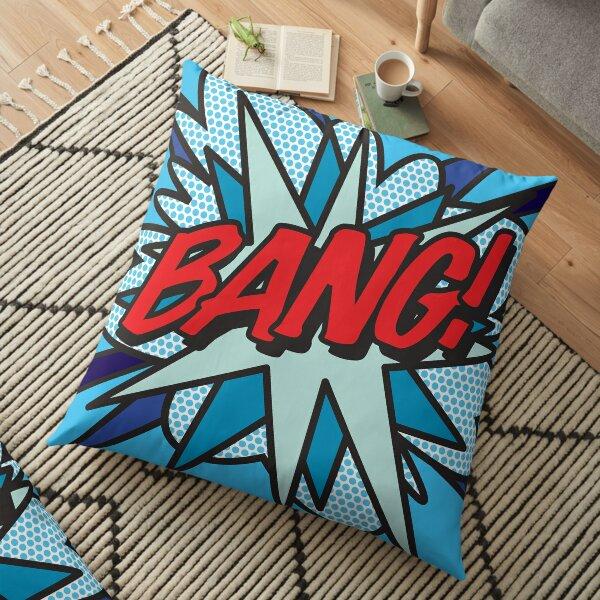 BANG Comic Book Pop Art Modern Fun Graphic Floor Pillow